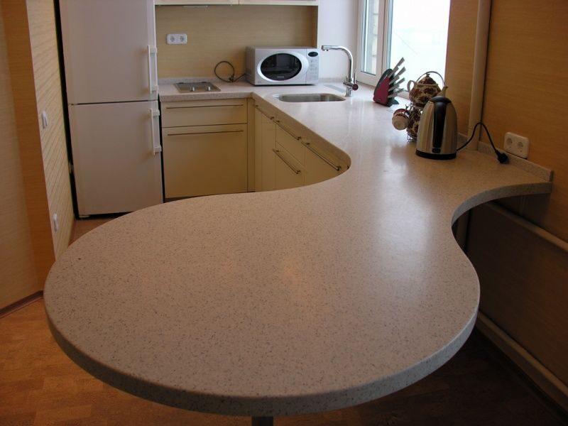 Галлерея пластиковых столешниц и кухонь.